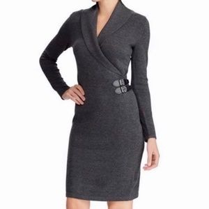 Ralph Lauren Black Cotton Sweater Wrap Dre…